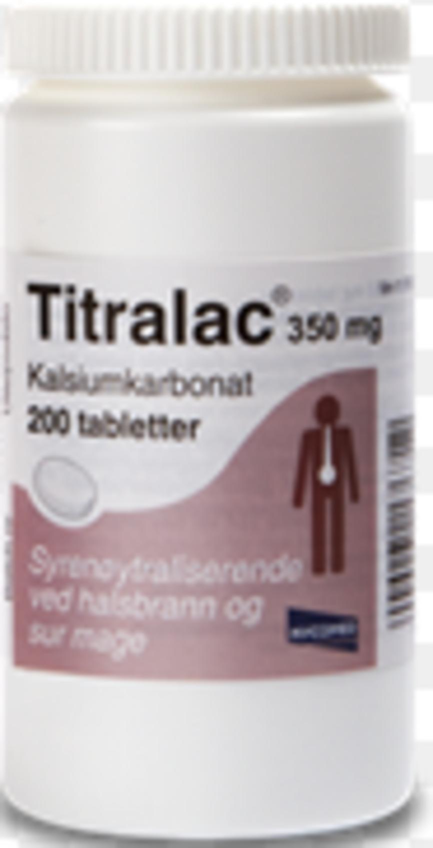 ab89997b Kjøp Titralac Tab 350 mg 200 stk på nett | Vitusapotek