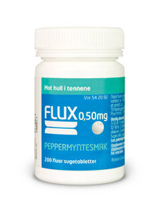 Flux Sugetab med peppermyntesmak 0,5 mg F