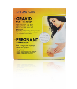 Lifeline Care kosttilskudd for gravide, 4x30 tabletter