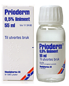 Prioderm Liniment, oppl 0,5 %
