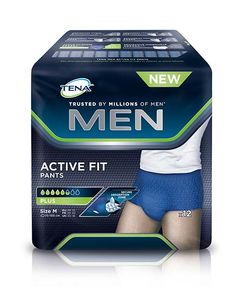 TENA Men Pants Active Plus buksebleie str. M 12 stk