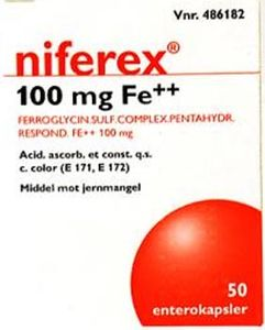 Niferex Enterokaps 100 mg