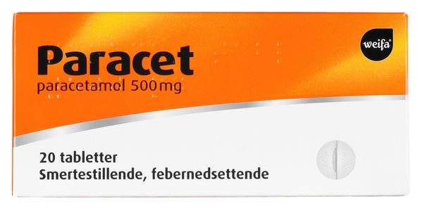 Paracet Tab 500 mg, 20 tabletter