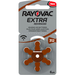 Rayovac Extra Advanced batteri for høreapparat 312