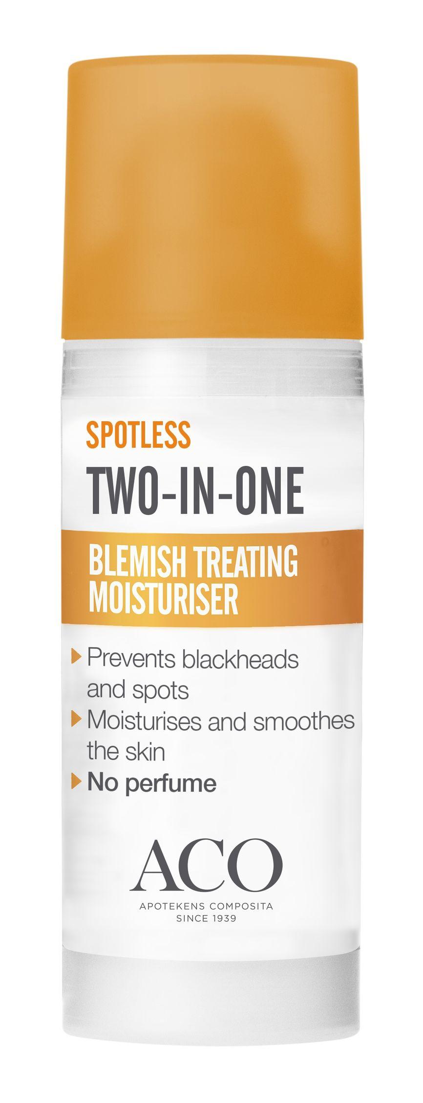 blemish treating moisturiser